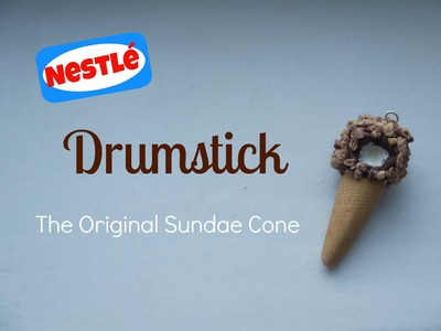 Polymer Clay Nestlé Ice Cream Drumstick: The Original Sundae Cone