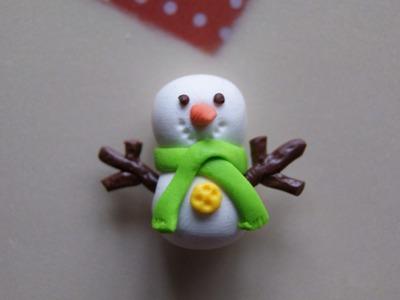 Snowman: Polymer Clay