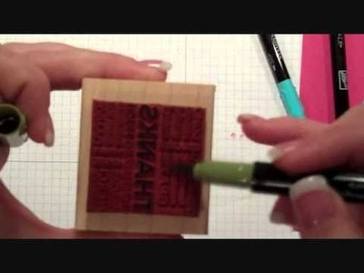 Using Stampin' Up! Markers Directly on Your Stamps