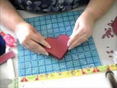 Valentine's Day Heart Box - Paper Lace Doily - part one