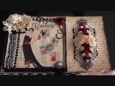Wild Orchid Crafts - Couture wall hanging.