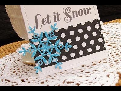 12 Weeks of Christmas #8:  Neon Glittered Snowflakes