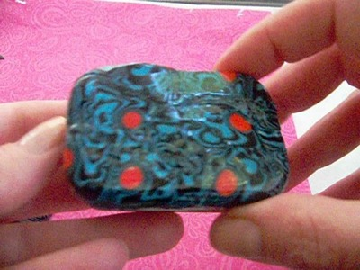 Attempt at Mokume-Gane polymer clay pieces.necklace