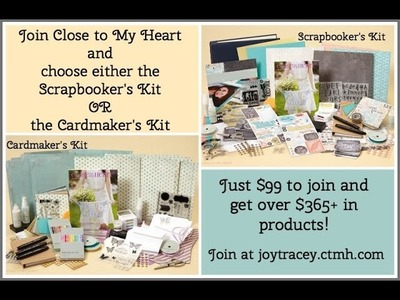 Close to My Heart CTMH New 2014 Cardmaking and Scrapbooking Consultant Kits
