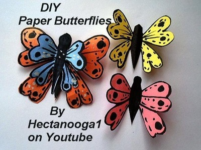 Colorful Paper Butterflies, Easy craft for kids of all ages, paper crafts, wedding decor,