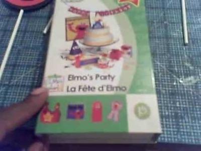 Cricut Elmo's Party cupcake toppers.