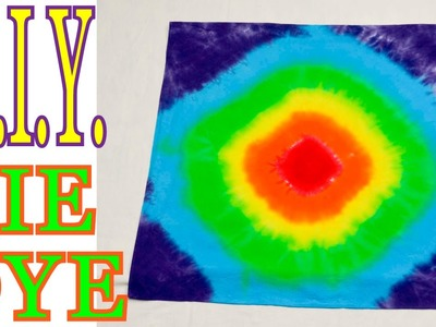DIY-How to Tie Dye Concentric Circles Rainbow [Tutorial]