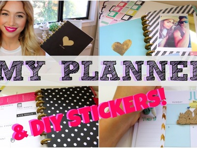 DIY STICKER TUTORIAL + HOW I DECORATE MY PLANNER | SimplyAlexandra