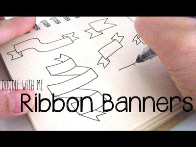 Doodle with Me : Ribbon Banners