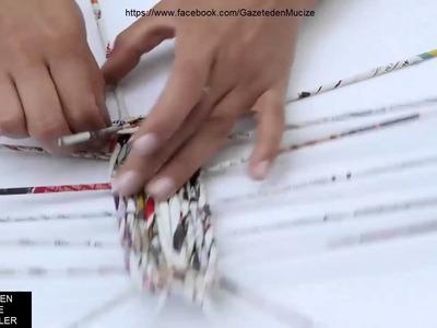 Gazetden Oval Sepet yapımı.TUTORIAL Oval basket