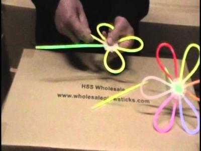 Glow Stick ideas - How to make Glow In The Dark FLOWERS - glow sticks