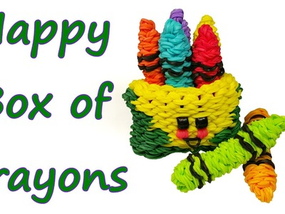 Happy Box of Crayons Tutorial by feelinspiffy (Rainbow Loom)