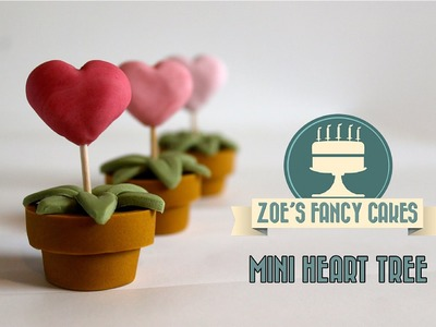 How to make a mini heart tree cake decorating valentines special How To Tutorial Zoes Fancy Cakes