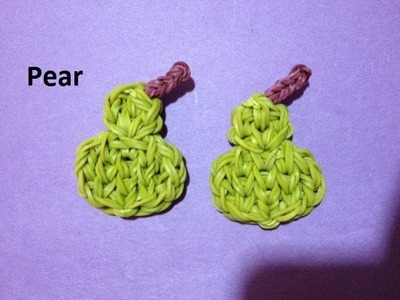 How to Make a Pear Charm on the Rainbow Loom - Original Design
