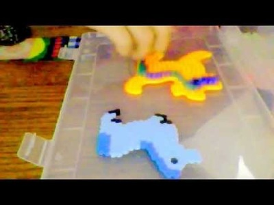 How to make a perler bead horse with a dog teplate