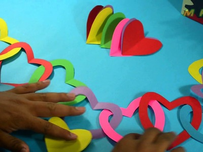 How to Make Hearts Garland - Decoration
