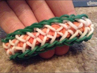 How to make the Confetti Criss-Cross Rainbow Loom bracelet