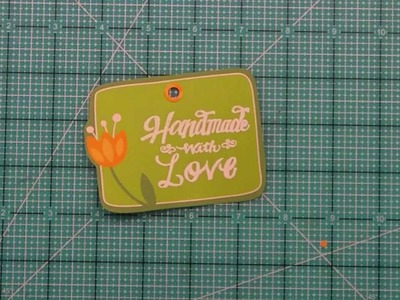 Intro to Handmade with Love + a tag from start to finish { Lawn Fawn }