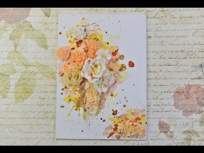 ♬ Mixed Media Resin Flower Altered Canvas Tutorial