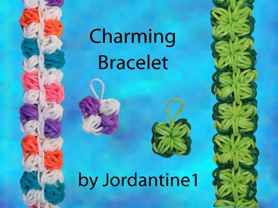 New Charming Bracelet or Charm - Hook Only - Loomless - Rainbow Loom - Four Leaf Clover
