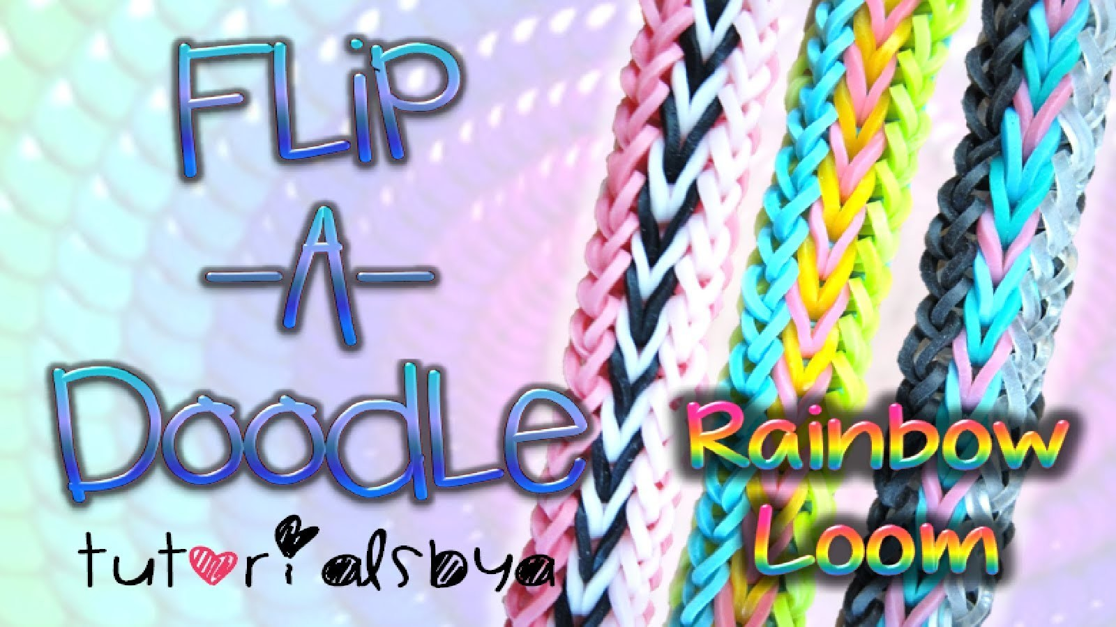 NEW Flip-A-Doodle RAINBOW LOOM Bracelet Tutorial | How To