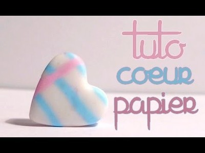 Paper Cane & Heart Shaped Pendant l Polymer clay Fimo miniature tutorial