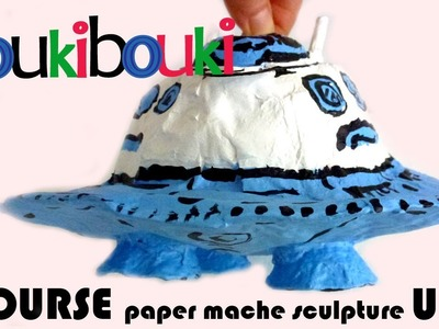 Paper Mache UFO - Artistic Activity for children- craft making art - How to Make COUKIBOUKI