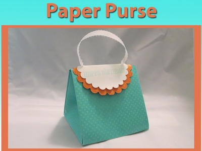 Paper Purse Card Tutorial