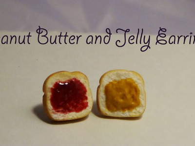 Peanut Butter and Jelly Earrings - Polymer Clay ♥
