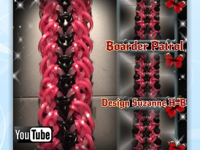 Rainbow Loom Band Boarder Patrol Bracelet Tutorial. How to