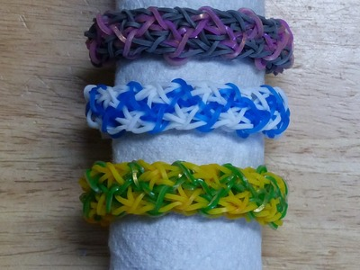 "Rainbow Loom Bracelet - Original Design - ""THE CAT'S MEOW"" (3Af)"