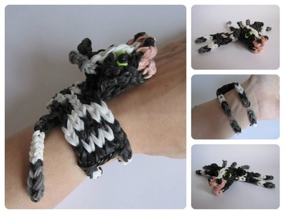Rainbow Loom cow bracelet Loombicious