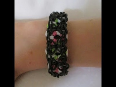 Rainbow Loom- How to Make a Lacy Fruit Bracelet (Original Pattern)
