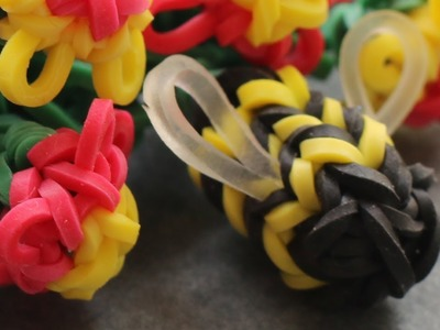 Rainbow Loom™  MonsterTail™ Bumblebee Charm Tutorial