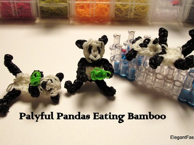 Rainbow Loom Panda Bear Charm - How to