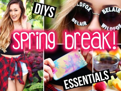 Spring Break DIYs, Accessories, Snacks & Packing Essentials ! | LaurDIY