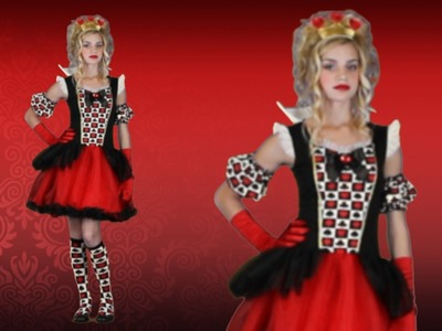 Teen Playing Card Queen of Hearts Costume
