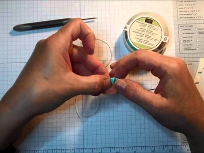 Two Minute Quick Tip:  Ribbon and Button Embellisment Idea
