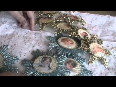 Victorian Angel Ornaments Using Dollar Store Item