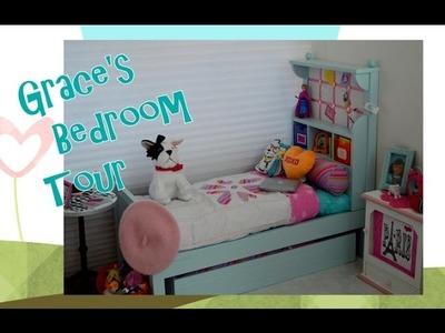American Girl Doll ~ Setting up Grace's Bedroom Tour ~ Disney Frozen