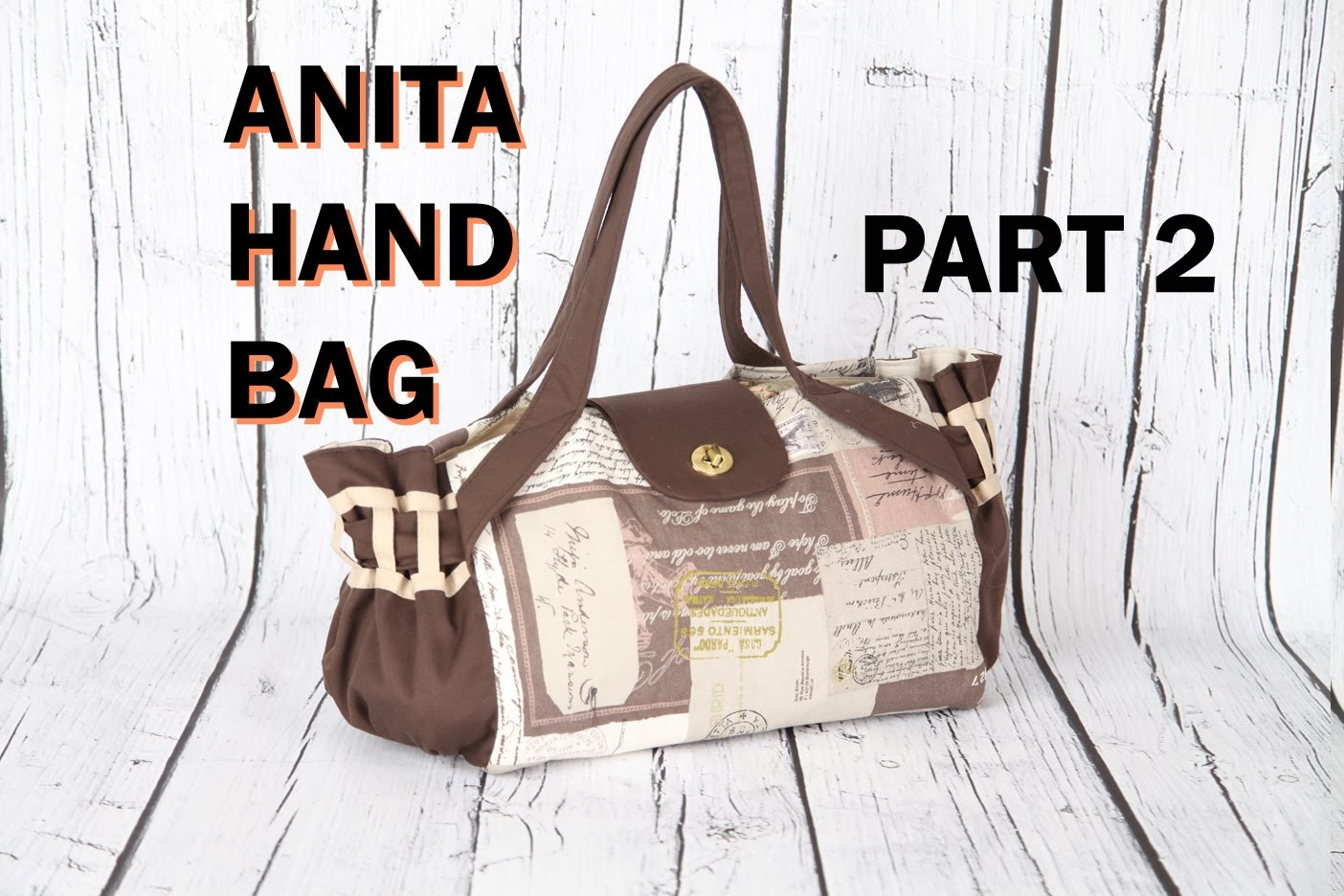 Anita 2 Pleated handbag, lined with magnetic button.DIY Bag Vol 21B