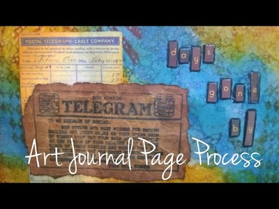 Art Journal Page-Days Gone By