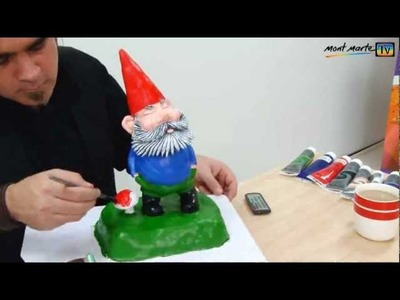 Art Lesson: How to Make your own Garden Gnome using Air-Hardening Clay