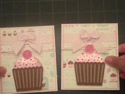 Cupcake Card-Sweet Treats Cricut Cartridge