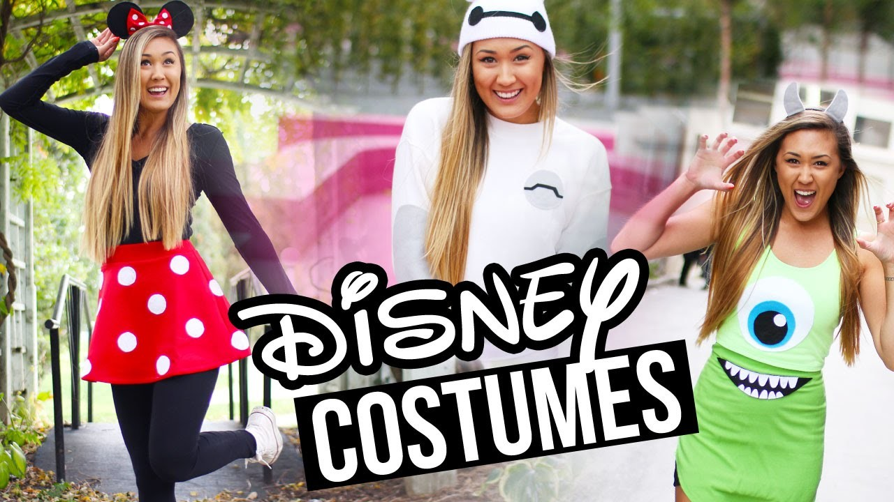 DIY DISNEY.PIXAR HALLOWEEN COSTUMES: Baymax, Minnie & Monsters Inc. | LaurDIY