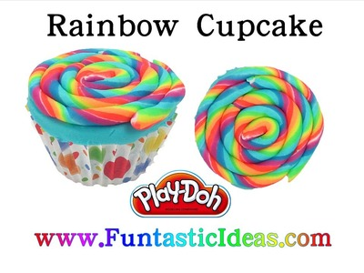 DIY Rainbow Cupcake Play Doh - How to playdogh tutorial by Funtastic Ideas