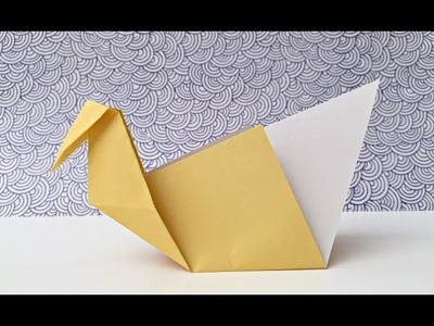 EASY Origami Swans   Paper Crafts for Kids