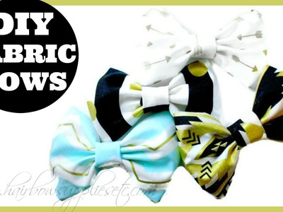 Fabric Hair Bow Tutorial - DIY Fabric Bows - Hairbow Supplies, Etc.