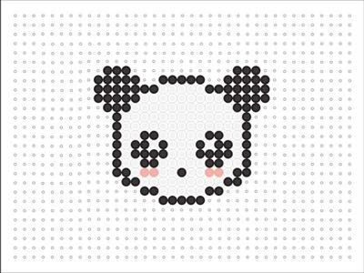 Hama Bead Kawaii Panda (Kawaii Series #3)