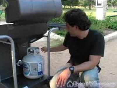 How to Barbecue on a Gas Grill : Installing & Connecting a Propane Tank to your Gas Grill